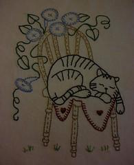 Para as meninas q gostam de gatinhos ... (soniapatch) Tags: handmade embroidery bordado