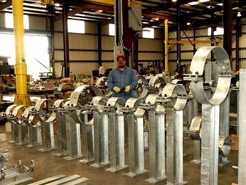40 Clamp Attachments for a Petrochemical Plant