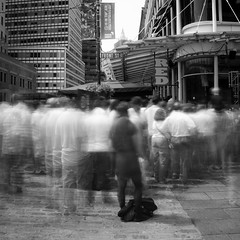 world cup crowd. (Vitaliy P.) Tags: world street new york city nyc red bw white motion black game cup glass bar square football movement nikon long exposure downtown day angle time manhattan fifa welding soccer south crowd wide front crop daytime ghosts gothamist seaport welders d80 18135mm vitaliyp thischarmingbroad gettylicensed flickropen