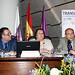Rodrigo Trujillo, Andrea Brito y Lorenzo Moreno