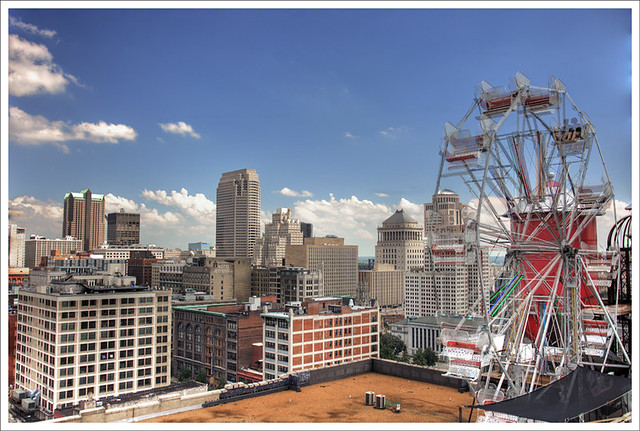 St. Louis Skyline With Ferris Wheel