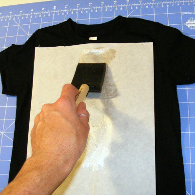 Freezer Paper Stencil step 7