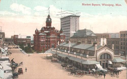 Market Square 1911 postcard
