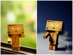 Day n Night (eFaN SuE) Tags: abstract canon toy rebel still bokeh xs figurine danbo danboard 1000d