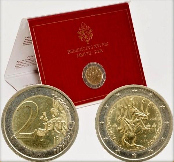 Oficiálne balenie 2 Euro Vatikán 2008, rok sv. Pavla