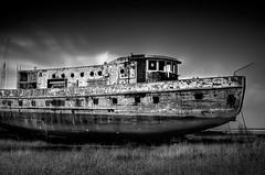 Boat (Chintsala) Tags: old chris white chicago black art wall yard canon print fire for boat long exposure peeling paint ship crane sale decay quality christopher buy scrap crain xsi platinumphoto hintsala