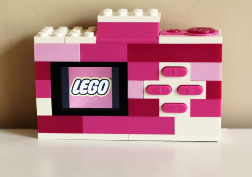 Pink Lego Camera back view