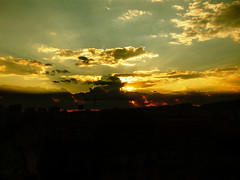 (aLejandro portfolio) Tags: city sunset summer españa sun mountain tower church landscape atardecer town spain europa europe iglesia ciudad paisaje verano antenna málaga antenas soleado montaas mirivaka
