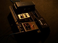 pedales (fernandodemexico) Tags: music guitar board marshall pedal crybaby muff dunlop ehx