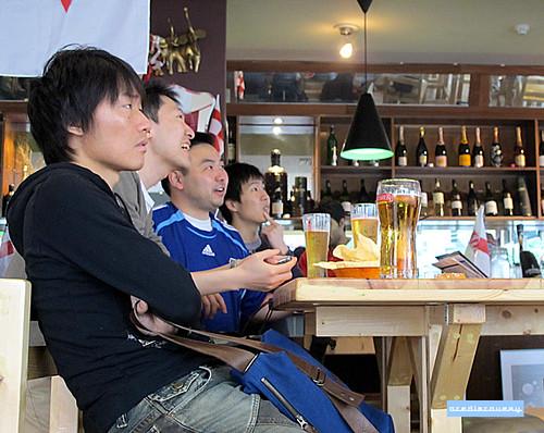Japan football fans, London