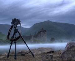 Kilchurn Castle, Loch Awe (BoboftheGlen) Tags: mist castle water scotland rocks argyll help loch awe tutorial lochawe masterclass dalmally kilchurn