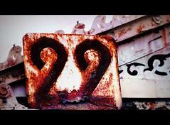 Deterioration (Ameliepie) Tags: wood autumn music fall texture photoshop season 22 lyrics october rust song album band number signboard woodgrain poetsofthefall carnivalofrust