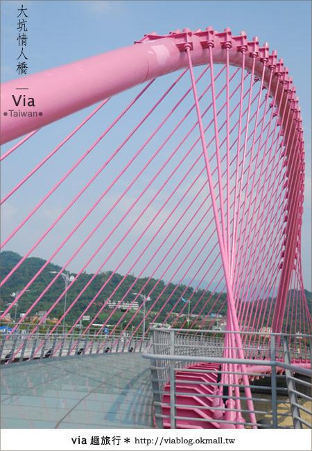 【大坑情人橋】新的台中約會景點~浪漫粉紅色情人橋18