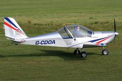 G-CDOA - 2005 build Aerotechnik EV-97 Eurostar, Barton resident (egcc) Tags: eurostar barton ev97 cityairportmanchester egcb mainairflyingschool gcdoa