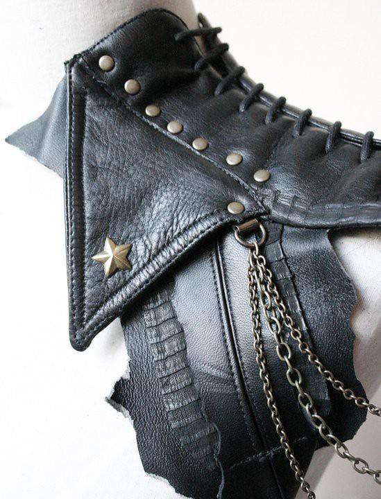 Leather shoulder harness by gTie Jenni Ahtiainen 9