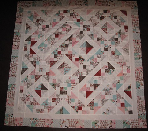 Finished top charmpack quilt along
