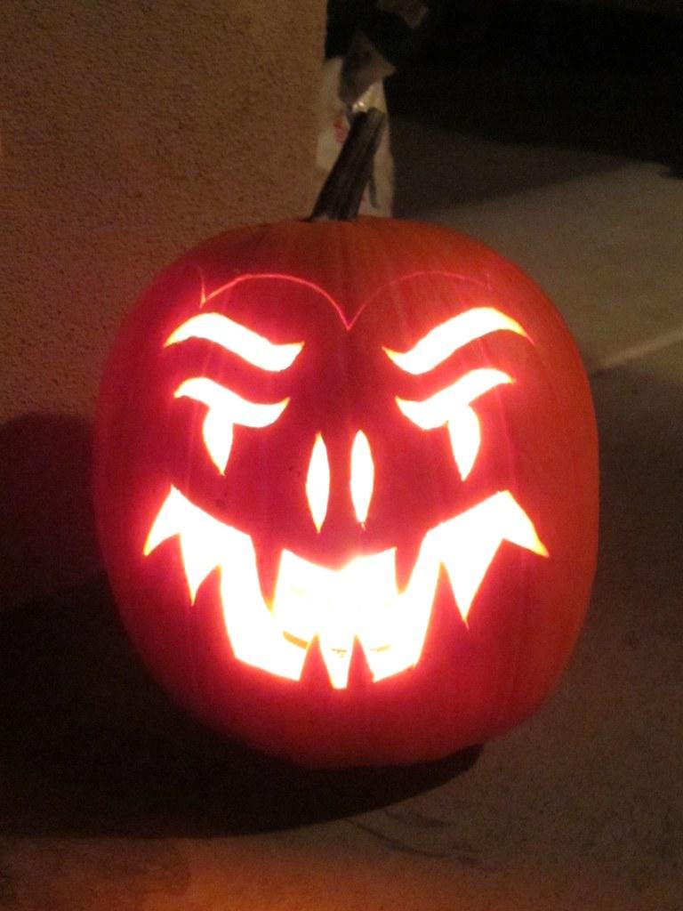 Scary pumpkin!