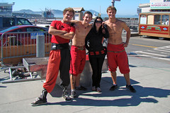 The Troupe (canadianlookin) Tags: sanfrancisco california red summer circus siblings september fishermanswharf acrobats 2010