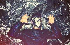 Ra Ra (Mr. Troglodyte) Tags: boy blur guy leather fashion monster photoshop silver disco aluminum foil dude jacket indie