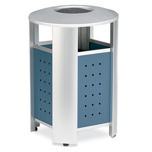 RT2000A - 20 Gallon Signature Receptacle with Ashtray Top and Powder Coated Panels