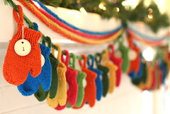 Smitten (a Holiday Garland) (emilyivey) Tags: christmas knitting pattern knit garland mittens smitten yarnmiralce