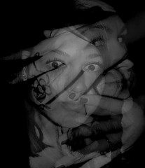 Tired of all versions of me (Nesa_ June) Tags: portrait face look eyes hands fingers expressions ring fshtds