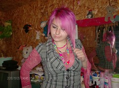 Emery Euthenasia (SamanthaKxCSlaughter) Tags: pink cute hair weird cool neon pretty random bored scene queen emery colourfull euthenasia addorable