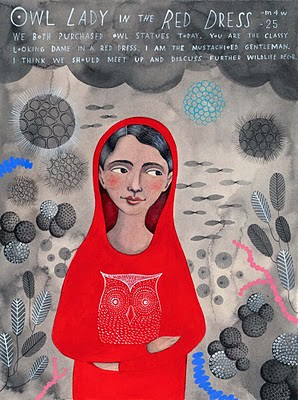 owl lady in the red dress (sophie blackall)