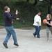 Students playing Basketball  at the Student  Leadership Retreat (Malibu, CA) 2005
