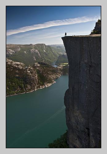 stavanger pulpit rock. Monumental Pulpit Rock ( Preikestolen ) close to Stavanger in Norway. View on the monumental Pulpit Rock ( Preikestolen ) close to Stavanger in Norway