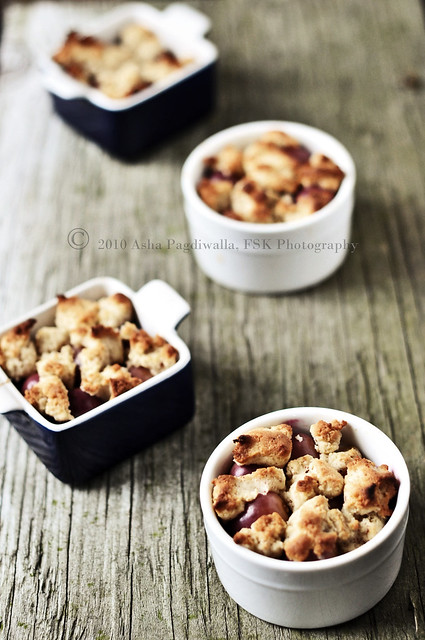 Apple & Red Grape Cobbler many