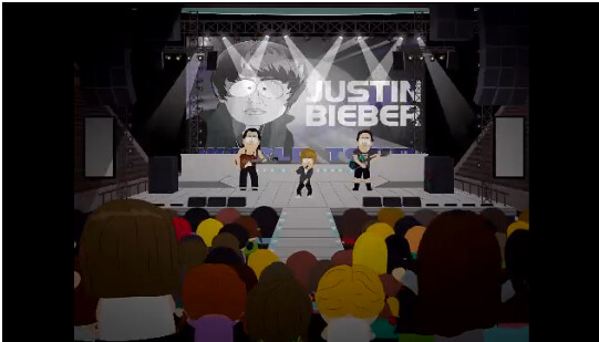 Justin Bieber in South Park