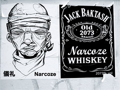 IMG_2406 (Akbar Sim) Tags: streetart holland pasteup stickerart stickers nederland denhaag netherland thehague 2073 akbarsimonse narcoze akbarsim