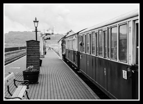 Train Leaving Ilford Pan F Plus 50