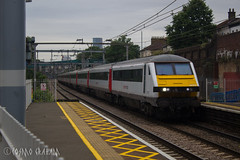 DVT 82102 leading at Forest Gate (Cosmo's Train & Gig Photos) Tags: aga greateranglia drivingvantrailer 82102 dvt fog forestgate london geml greateasternmainline