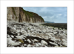 Cliffs at Sewerby (prendergasttony) Tags: sea sand beach nature bridlington yorkshire england outdoors water shore town seaweed rocks sky clouds elements nikon d7200 northsea horizon blue wind turbines church spa fishing sewerby flamborough cliffs chalk white hall seascape holiday pebbles vacation