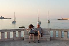 Otranto, piazza degli Eroi (Angelo M™) Tags: otranto salento puglia italia italy sea mare tourists turisti landscape paesaggio tramonto sunset