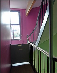 school stairs (april-mo) Tags: stairs steps escalier marches window colours