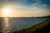 View on Hoorn over the Markermeer (http://www.paradoxdesign.nl) Tags: hoorn markermeer sunset sunlight water lake sea skyline clouds sky dike dijk