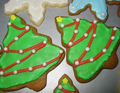 (ashleeeek) Tags: christmas xmas red holiday tree green cookies yellow snowflakes star baking diy holidays cookie handmade crafts gingerbread sugar homemade sprinkles icing merry bake royalicing