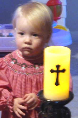 Baby and candle (battery-powered, safe!)
