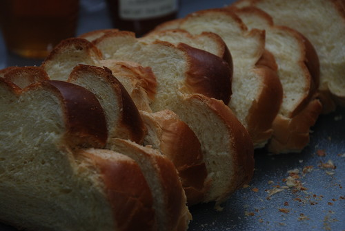 cut challah for french toast
