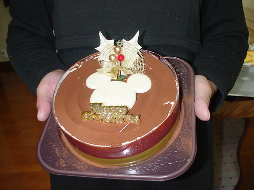 ミッキーのチョコレートケーキ