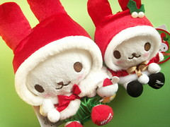 Very Merry Christmas....  (Kawaii Japan) Tags: christmas red cute rabbit bunny green smile smiling animal japan shop shopping asian toy happy japanese store costume nice keychain doll soft brinquedo pretty cosplay character small decoration adorable cutie plush mascot lindo gift stuff kawaii fancy plushie lovely cuteness merrychristmas greeting spielzeug jouet juguete  niedlich  japanesetoy gentil atraente giocattolo grazioso japanesestore cawaii japaneseshop cosplaying kawaiigoods fancyshop kawaiistuff kawaiishopping kawaiijapan usazukin kawaiistore kawaiishop kawaiishopjapan kawaiijapanese kawaiijapanesestore