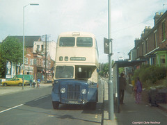 Stafford Road, Wolverhampton, 1977 (Looking North) (Lady Wulfrun) Tags: bus cortina pub 99 1970s 1977 wolverhampton thecroft weymann fordcortina 99n wmpte staffordroad july1977 theislandhouse fordhouses guyarabv wolverhamptoncorporation dunstallcinema 7099uk halfcob