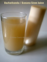 Vazhathandu / Banana Stem Juice