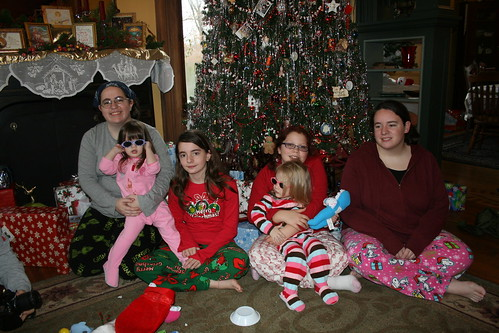 three daughters, three grands
