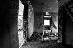 The Other (jcoterhals) Tags: blackandwhite bw building abandoned mystery decay ghost haunted mystic twphch twphch034
