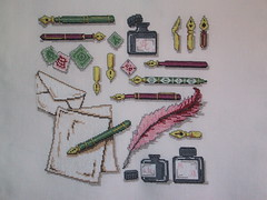 Pennenmerklap (Moemoe Vetje) Tags: crossstitch embroidery kruissteek naaiwerk