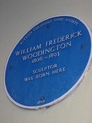 Photo of William Frederick Woodington blue plaque